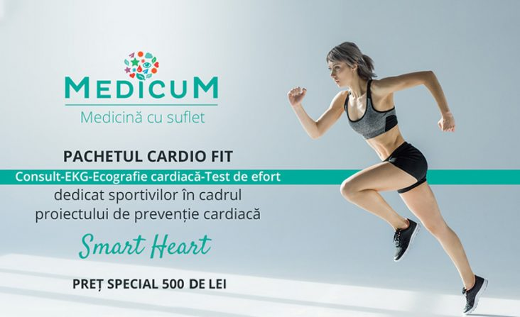 """De ziua inimii, Medicum lansează """"Cardio Fit"""", pachet de testare cardiacă dedicat sportivilor amatori"""