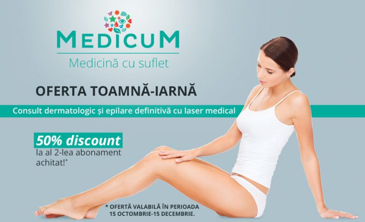Consult dermatologic si epilare definitiva cu laser medical